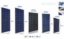 Placa solar 150w 160w 250w 260w 300w 320w 330w Panel Solar Fotovoltaico 12v 24v