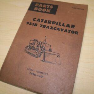 CAT Caterpillar 951B Traxcavator Parts Manual Book track loader catalog