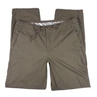 Eddie Bauer Women 8 Outdoor Pants Slacks Straight Leg Drawstring Pockets Brown