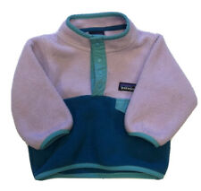 Patagonia Synchilla Baby Snap T Fleece Pullover Jacket Size 3- 6 Months