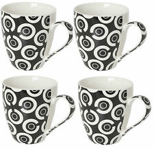Set of 4 Porcelain Extra Large Coffee Soup Mugs Dishwasher & Microwave Safe