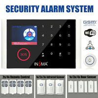 APP Remote Wireless Home Security WIFI GSM GPRS Alarm System Doorbell Full Set