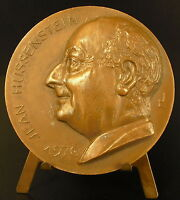 Medal to Jean Hussenstein Surgeon Surgery Surgeon 1970 Sc Lj 68 mm Medal