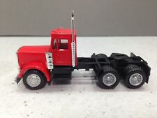 HO 1/87 Promotex Herpa # 15233 Peterbilt Short Tandem Axle Day Cab Tractor Red