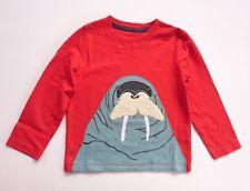 Boden Niños Aplicación Top de manga larga camiseta knight-dragon-polar bear-