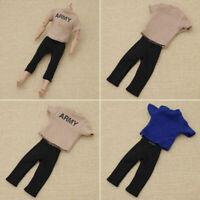 """1/6 Scale Blau Beiläufig Heer T-shirt Hosen Outfit 12"""" Action Figur Toy Zubehör"""