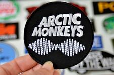ARCTIC MONKEYS Sound Wave Round Black Music Iron On Patch Patches Embroidered