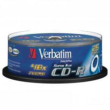 25 Verbatim Rohlinge Spindle CD-R Printable 80Min 700MB 52x Super AZO