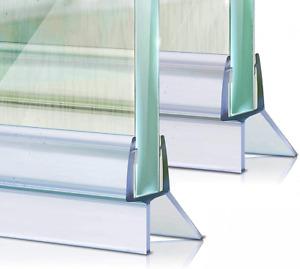 Shower Screen Seal Strip, 2Pcs Plastic Door for 6-8mm Straight...