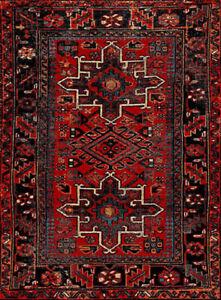 """Hamadan VTH211A Oriental Traditional Persian Bedroom Runner, 2'7"""" x 5' , Red /"""