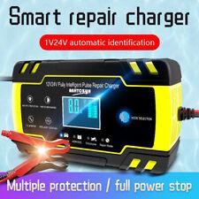 Automatic Intelligent Smart Car Battery Charger Pulse Repair Starter 12V 24V AGM