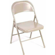 Mainstays Steel Chair, Set Of 4, tan, Folding Metal Chairs