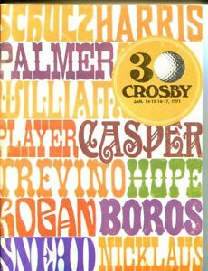 CROSBY 1971 GOLF TOURNAMENT PROGRAM-TREVINO-PALMER EX