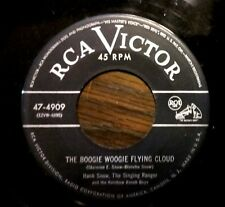 HILLBILLY BOP/C&W 45: HANK SNOW Boogie Woogie Flying Cloud/Went to Your Wedding