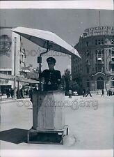 1948 Traffic Policeman Bank Building Ankara 1940s Turkey Press Photo