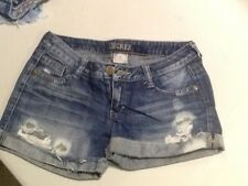 Decree Jean Shorts Size 5 faded stained distressed Wash rise mini low cut off