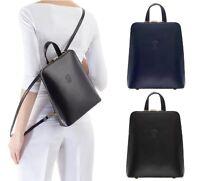 Ladies Handbag Backpack Italian Leather Vera Pelle Crossbody Shoulder Bag