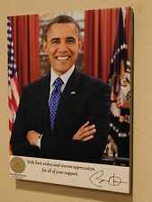 Barack Obama Presidential Seal White House 12x16 Canvas Thank You Photo signed