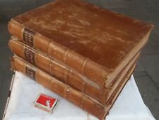 Scotts  Bible  3 volumes  Leather bound  illustrated