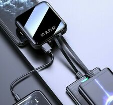 Mini Power Bank 2.1A Fast Charging Three-line Charger LED Digital Display Portab