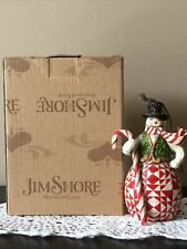 Jim Shore - 2012 Red/Green Candy Cane Snowman Ornament