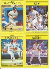 1991 Fleer New York Yankees Team Set