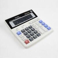 Dual Power Solar  Battery 12 Digits Calculator Desk Desktop Large Buttons