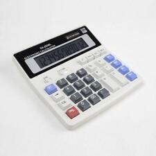 Dual Power Solar & Battery 12 Digits Calculator Desktop Desk Large Button Pro AU
