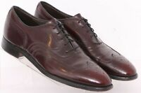 Johnston & Murphy Crown Aristocraft Burgundy Wingtip Oxford Shoes Men's US 10.5B