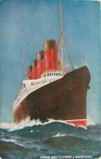 Cunard RMS Lusitania Mauretania 1920s Steamship Ocean Liner Postcard 4597