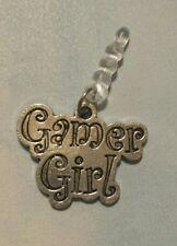 Gamer Girl Cell Phone Dust Plug Tibetan Silver Charm All Phones Video Gamer