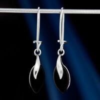 Onyx Silber 925 Ohrringe Damen Schmuck Sterlingsilber H528