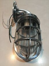 Heavy Duty Cage Light Industrial Decor Steampunk Stainless nautical marine