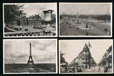 France PARIS x8 c1920/50s RP PPCs real photo by GUY