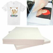 20pcs Heat Transfer Paper T Shirt Inkjet Iron On Sheet Light Fabric Craft Diy Ca