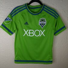 ADIDAS Seattle Sounders FC MLS Climacool Soccer Jersey XBOX Youth Large L Green