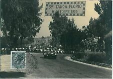 TARGA FLORIO : CARTOLINA CON ANNULLO SPECIALE 1955