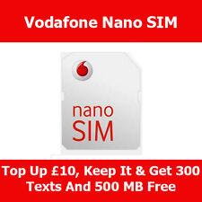 Vodafone Nano Sim Card For Apple iPhone 5 On Vodafone Pay As You Go