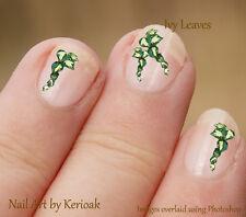 Trailing Ivy Leaf Spray, 30 Unique Designer Nail Art Stickers Decals flower