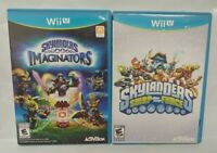 Skylanders Imaginators + Swap Force -  Nintendo Wii U Complete Rare 2 Game Lot