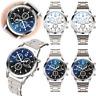 Men's Fashion Watches Stainless Steel Analog Quartz Watch Business WristWatches