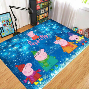 Peppa Pig Area Rug Carpet 3D Print Anti-Skid Rug Home Living Room Floor Mats