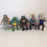 VTG TMNT Teenage Mutant Ninja Turtles Lot Of 5 Figures 80s And 90s