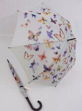 ESPRIT Regenschirm Stockschirm  für Damen  Butterfly Schmetterlinge Langschirm