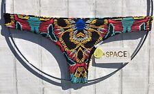 L*SPACE SWIMWEAR MOROCCAN DREAMS ITSY BRAZILIAN BIKINI BOTTOM (XS) NWT $73 THONG