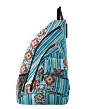 Canvas One Strap Crossbody/ Sling Backpack NEW NGIL Serape Aztec Blue Western