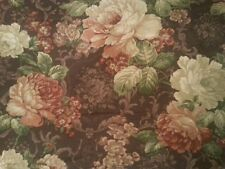 8 yrds Vtg 1995 Floral Richloom Drape Upholst fabric Canada Huge Shabby Flowers
