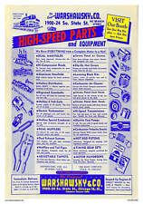 Vintage Reproduction Racing Poster Warshawskys Auto Parts Chicago