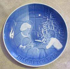 B&G Bing & Grondahl Denmark Christmas Plate 1978 A Christmas Tale #9078