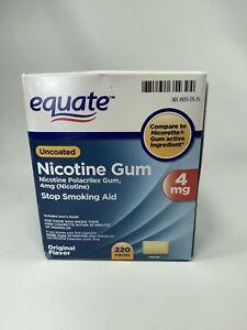 Nicotine Gum 4mg 220  Equate Stop Smoking Original Flavor